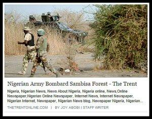 ARMY BOMBARD SAMBISA
