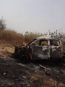 One-of-the-terrorists-vehicles-destroyed-by-troops