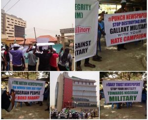 PROTEST AGAINST LEADERSHIP AND CO